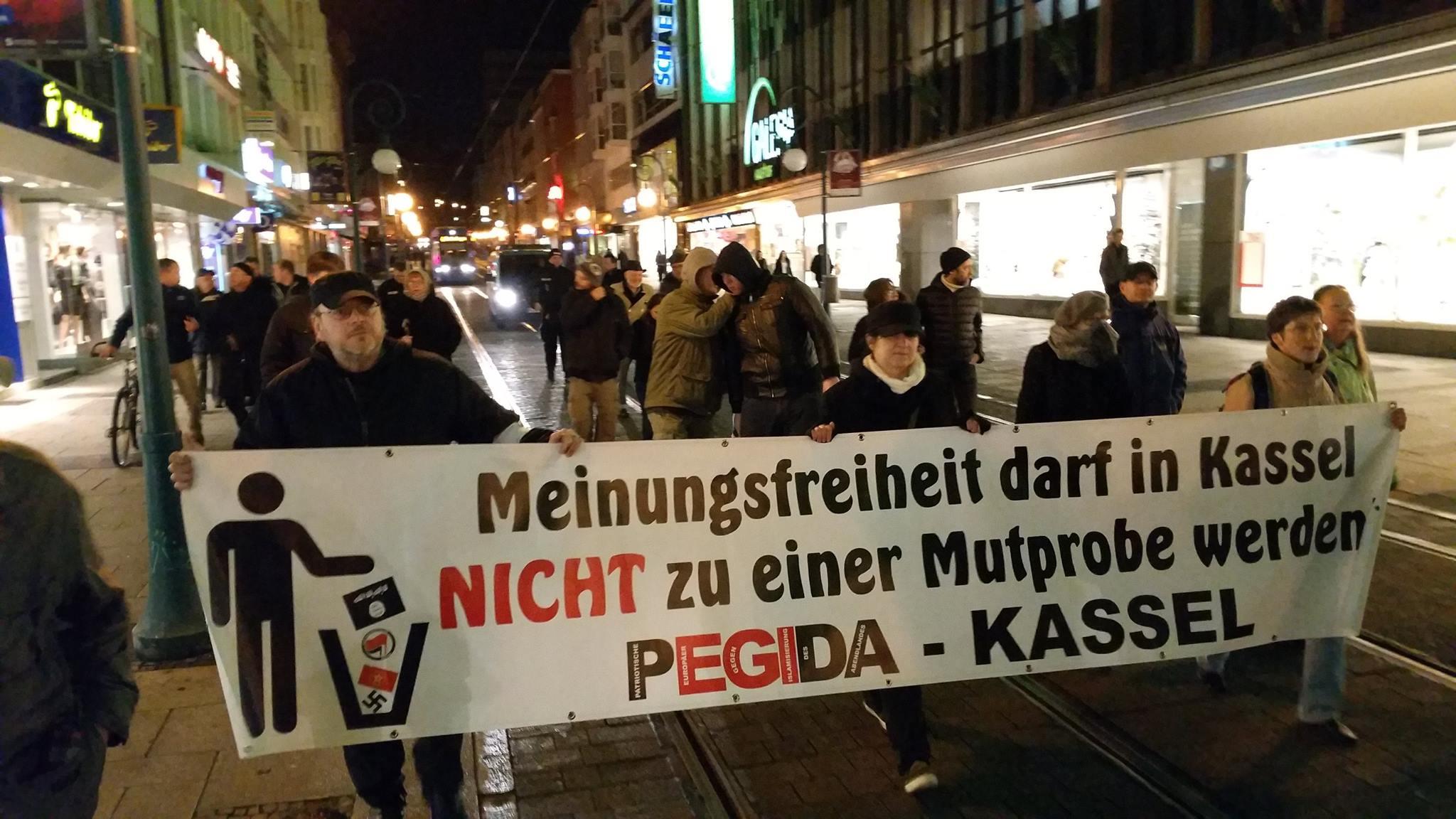 Spaziergang Pegida Kassel am 16.11.2015