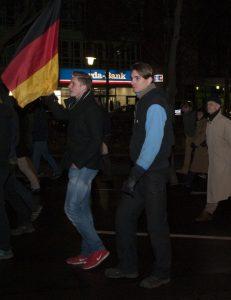 KAGIDA 2015: Tristan Lessing (exAfD) und Mike Sawallich (Neonazi)