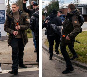 Marco Kurz attackiert Gegendemonstrierende in Kassel am 20.03.21